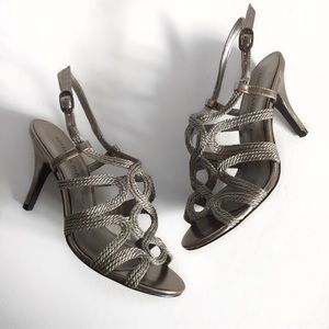 Adrianna Papell Boutique Metallic Rope Heels